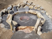 Basalt Boulders and Columns in Firepit