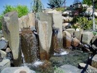 Basalt Column Water Feature