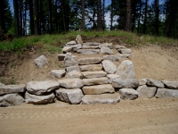 Whitetail Granite Steps With Whitetail Granite Boulders