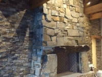Perma Full Stone Fireplace Finished
