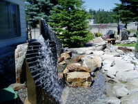 Cut Step Basalt Rock Fountain