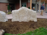 Commercial Application Whitetail Granite Sign Rock