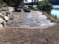 Flagstone Patio With Polymeric Sand