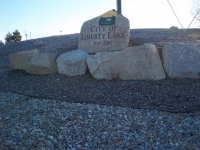 City Of Liberty Lake Sign Rock
